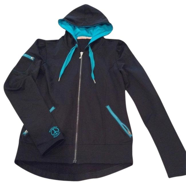 Preload https://item1.tradesy.com/images/juicy-couture-blackturquoise-activewear-hoodie-size-petite-2-xs-2109965-0-0.jpg?width=400&height=650