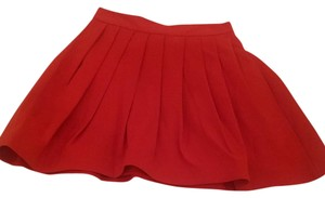 Halston Mini Skirt Red