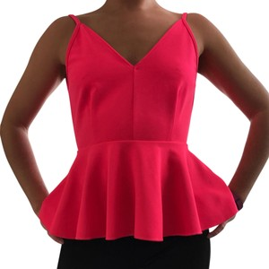 Olivaceous Out Bright Peplum Slit Open Back Top