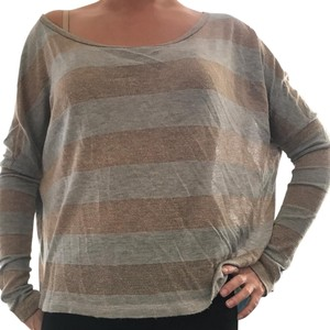 Vintage Havana Stripes Gold Tinsel Comfy Sweater