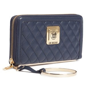 Moschino Moschino Navy Blue Zip Around Wallet