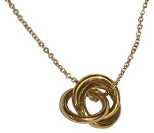 Blue Nile Infinity Love Knot Necklace in 14K Yellow Gold