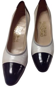 Salvatore Ferragamo Collection Florence WHITE/ BLACK Pumps