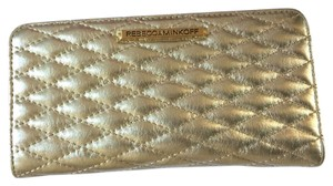 Rebecca Minkoff Quilted snap leather wallet