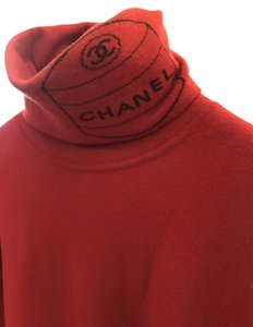 Chanel Logo Knit Hipster Turtleneck Sweater