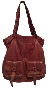 Hobo International Brown Leather Tote in Distressed Brown
