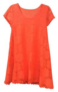 Kimchi Blue short dress orange on Tradesy