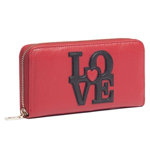 Moschino Moschino Red Zip Around Wallet