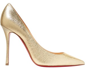 Christian Louboutin Louboutin 100mm Decoltish gold Pumps