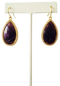 Lauren Ralph Lauren Amethyst & Crystal Teardrop Large Drop Earrings