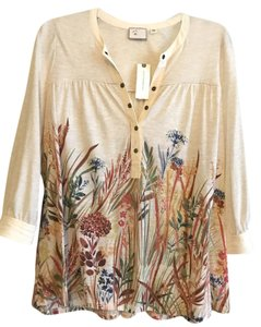 Anthropologie Top Tan multi