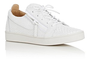 Giuseppe Zanotti Sneakers New Croc Effect Leather white Athletic
