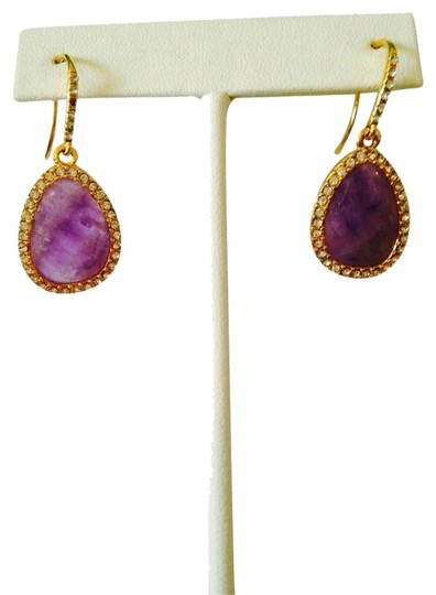 Preload https://img-static.tradesy.com/item/2110054/ralph-lauren-purplegold-amethyst-and-crystal-gold-tone-teardrop-earrings-0-0-540-540.jpg