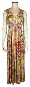 Multi-color Maxi Dress by Christopher & Banks Maxi Sublimation Embellished Stretchy