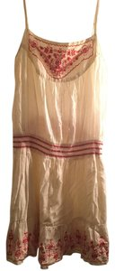 Romeo & Juliet Couture short dress Cream Bohemian Embroidered on Tradesy