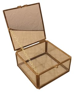 Gold And Glass Jewelry Display Box