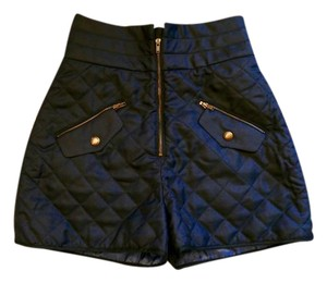 Maison Kitsun Quilted Polyester Contemporary Shorts Blue
