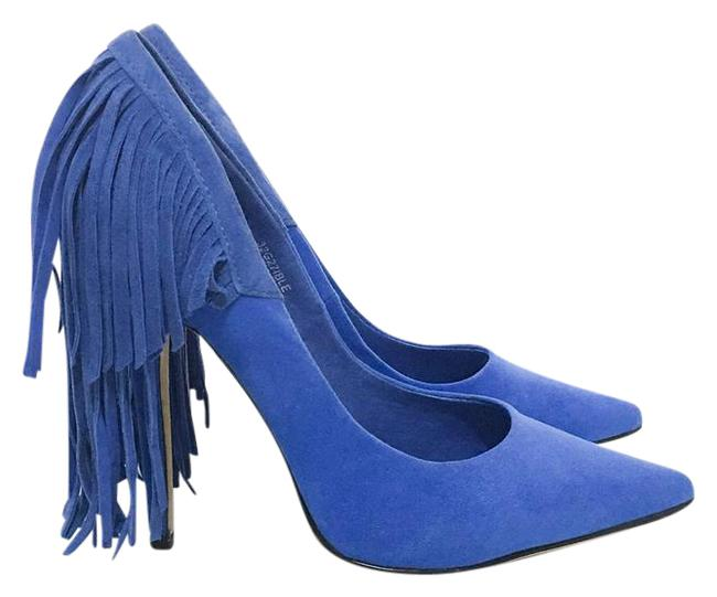 Item - Cobalt Blue Geri Fringe Court Heel Pumps Size US 7.5 Regular (M, B)