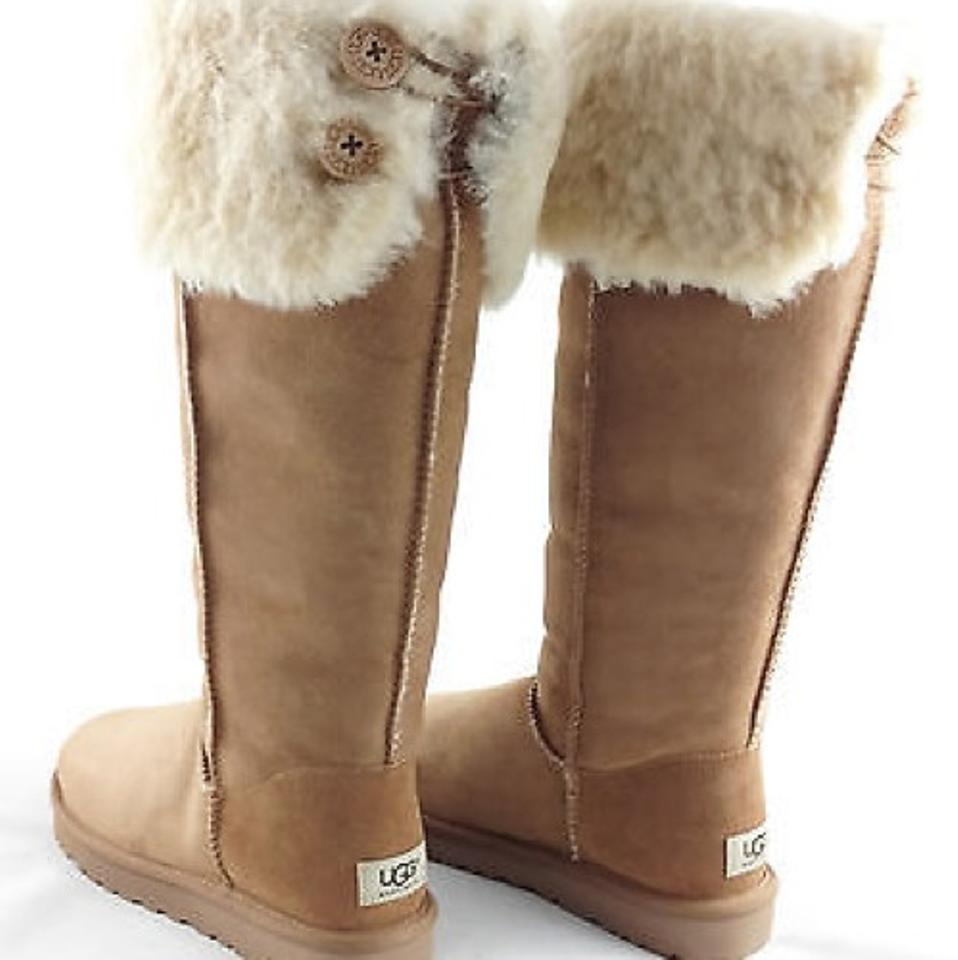 618b9675020 UGG Australia Chestnut Bailey Button Over Knee Boots/Booties Size US 6  Regular (M, B) 27% off retail