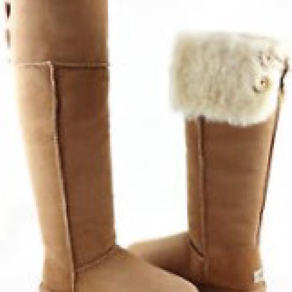 5d4bd831fed UGG Australia Chestnut Bailey Button Over Knee Boots Booties Size US ...