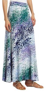 Three Dots Maxi Skirt deep lilac combo