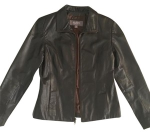 Wilsons Leather Leather Dark Brown Leather Jacket