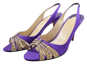 Christian Louboutin Slingback purple Pumps