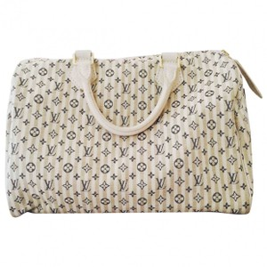 Louis Vuitton Satchel in Black and white