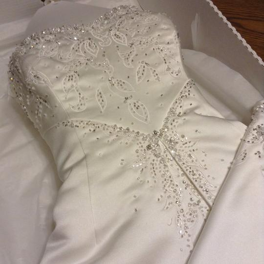 Maggie Sottero White Couture Gown Formal Wedding Dress Size 12 (L) Image 10