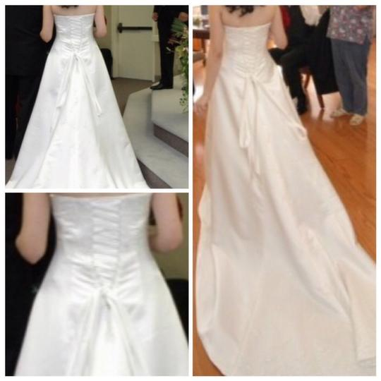 Maggie Sottero White Couture Gown Formal Wedding Dress Size 12 (L) Image 11