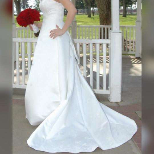 Maggie Sottero White Couture Gown Formal Wedding Dress Size 12 (L) Image 3