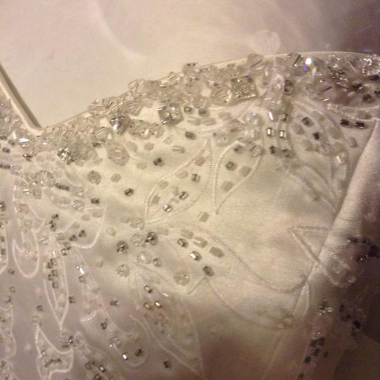 Maggie Sottero White Couture Gown Formal Wedding Dress Size 12 (L) Image 9
