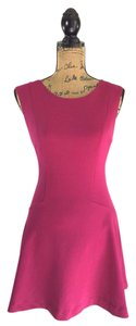 Free People short dress Pink Skater Magenta Machine Washable Stretchy Party on Tradesy