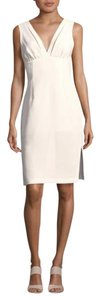 BCBGeneration Party Sexy V-neck Empire Waist Ivory Dress
