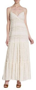 Ivory Maxi Dress by Willow & Clay Sexy Empire Waist Lace Tiered