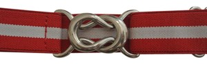 Club Monaco Striped elastic adjustable belt