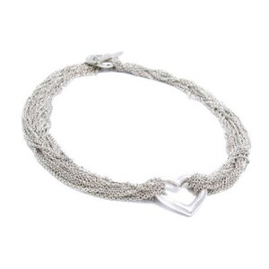 Tiffany & Co. Sterling Silver Multi Strand Heart Choker
