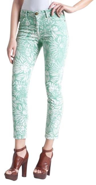 Preload https://img-static.tradesy.com/item/2110130/currentelliott-mint-green-coated-dvf-loves-the-classic-in-floral-skinny-jeans-size-27-4-s-0-0-650-650.jpg