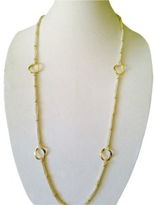 Lauren Ralph Lauren Silver/Gold Link Long Chain Necklace