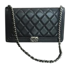 Chanel Woc Black Silver Chain Shoulder Bag