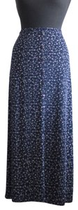 Fashion Bug Plus-size Floral Skirt Blue & White