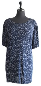 Fashion Bug Plus-size Floral Top Blue & White