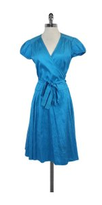 Calypso Blue Silk Wrap Dress