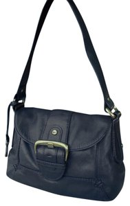 Fossil Leather Brass Flap Hobo Bag