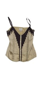 Karen Millen Beige Brown Silk Blend Top