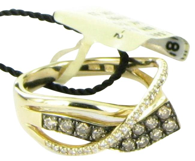 Item - Honey Gold Chocolate & Vanilla Diamonds Gladiator Wraps 14k Choco Ring