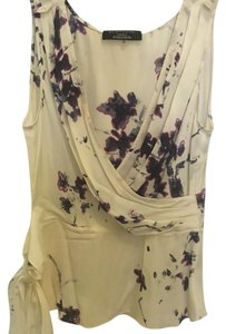 Elie Tahari Top off white/ floral print