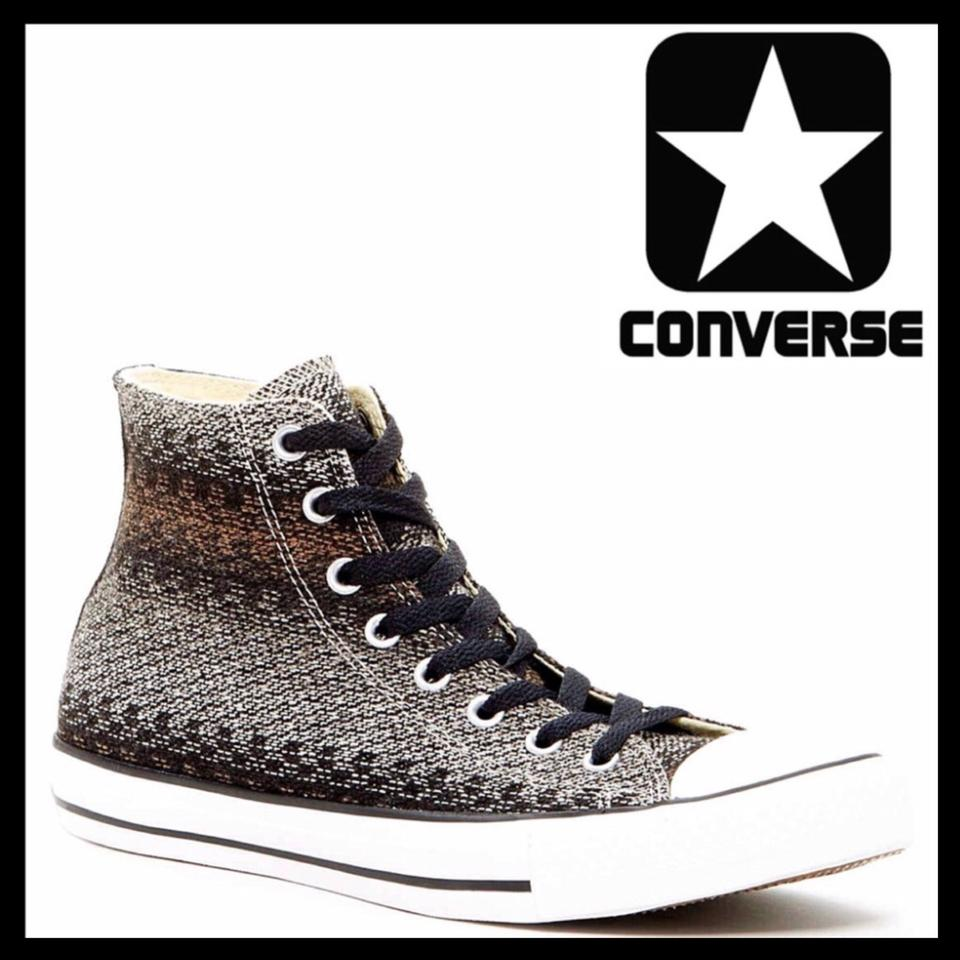d19edda19266 Converse Black White Sneakers Stylish Classic High Top Sneakers Size ...