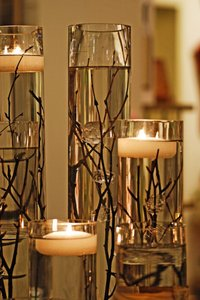 Ivory Floating Candles (10-count)