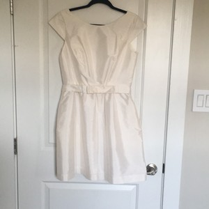 Alfred Sung Alfred Sung Cap Sleeve Cocktail Dress With Bow Wedding Dress
